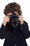 Boy taking photo Royalty Free Stock Photos