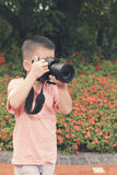 little photographer Royalty Free Stock Photo
