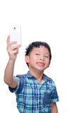 Boy taking photograph himself Royalty Free Stock Photo