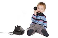 Boy talking Royalty Free Stock Photo
