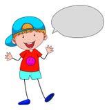Boy talking Royalty Free Stock Images