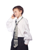 Boy talking on mobile phone Royalty Free Stock Photo