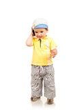 Boy talking at the mobile phone Stock Photography
