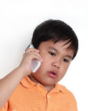 Boy talking on the phone Royalty Free Stock Photography