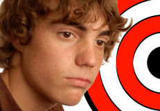 Boy with target Royalty Free Stock Image