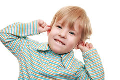 Boy teases Royalty Free Stock Images