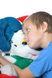 Boy with teddy bear Royalty Free Stock Photos
