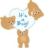 Boy Teddy Bear Baby Shower Stock Photography