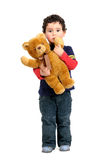 Boy with teddy Royalty Free Stock Images