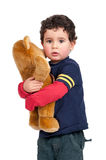 Boy with teddy Royalty Free Stock Photo