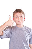 Boy teen shows cool hand sign Stock Images
