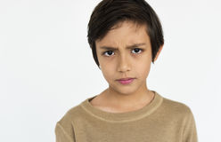 Boy Teen Worry Curious Concept Stock Photos