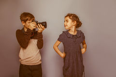 Boy teenager  European appearance  photographs Royalty Free Stock Photography