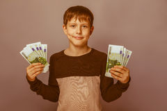 Boy teenager European appearance  ten years Stock Images