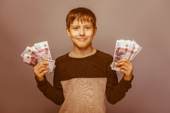 Boy teenager European appearance ten years Royalty Free Stock Photo