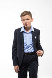 Boy teenager gentleman in a suit Stock Photography