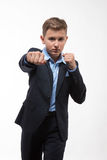Boy teenager gentleman in a suit Royalty Free Stock Photos