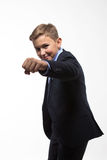 Boy teenager gentleman in a suit Royalty Free Stock Photo