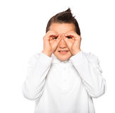 Boy the teenager isolated on a white background Stock Photos