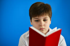 Boy teenager looking in day planner Royalty Free Stock Photography