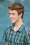 Boy Teenager Pool Stock Image