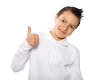 Boy  teenager smiles isolated Stock Photography