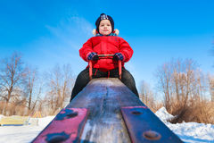 Boy on a teeter Stock Photos