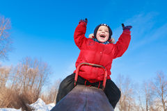 Boy on a teeter Royalty Free Stock Photos
