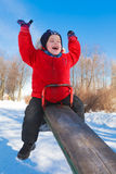 Boy on a teeter Royalty Free Stock Photo