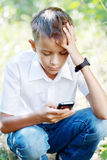 Boy ten years with Cell Phone Royalty Free Stock Images