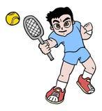 Boy tennis Stock Photography