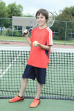 Boy tennis player Royalty Free Stock Photo