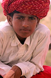 Boy in the Thar desert in India. Boy in the Thar desert near Bikaner in India, July 27, 2009 Royalty Free Stock Photography