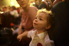 Boy in the theater Royalty Free Stock Photography