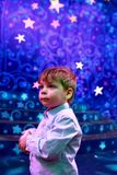 Boy in the theater Stock Photo