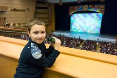 Boy in theater Stock Photo
