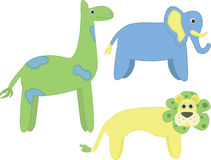 Boy themed animals. Baby boy themed animals on a white background Royalty Free Illustration