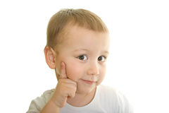 Boy thinking Royalty Free Stock Photo