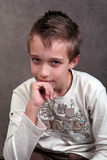 Boy thinking Stock Photo