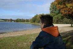 Boy thinking. Stock Photos