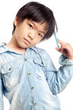 Boy thinking Royalty Free Stock Images