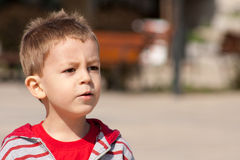 Boy thinking Royalty Free Stock Images
