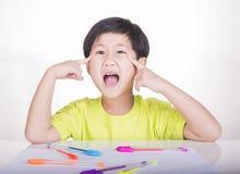 Boy thinking Stock Images