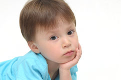 Boy in thoughts Royalty Free Stock Photography
