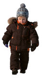Boy of three years in winter clothes Royalty Free Stock Photos