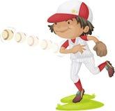 A Boy Throwing Ball Stock Photography