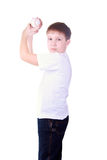Boy throws a ball Royalty Free Stock Images
