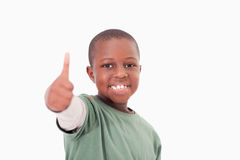 Boy with the thumb up Stock Images