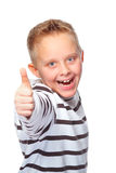 Boy with thumb up Royalty Free Stock Image