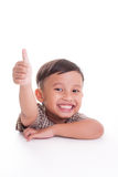 Boy with thumb up Royalty Free Stock Photo